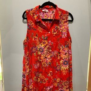 Dress multicolored beach lunch lounge dress